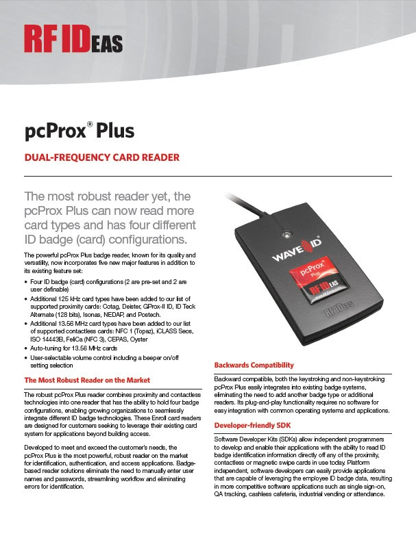 RFIDeas pcProx Plus Reader | Solution Synergy