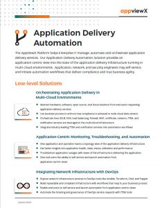 AppviewX Application Delivery Automation